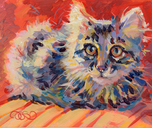 """Kitten Fluff"" original fine art by Kimberly Santini"