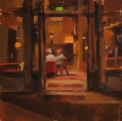 """Stay Awhile"" original fine art by Carol Marine"