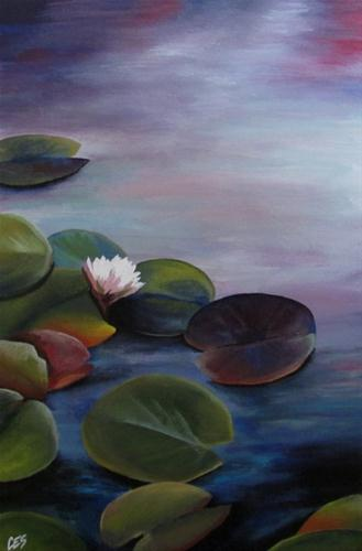 """Lily Pads"" original fine art by ~ces~ Christine E. S. Code"