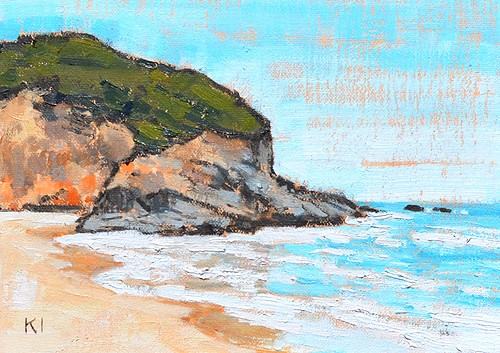 """Dana Point Landscape Painting"" original fine art by Kevin Inman"