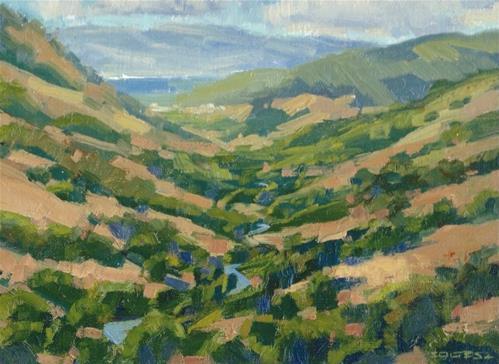"""Lucas valley road"" original fine art by J. Thomas soltesz"