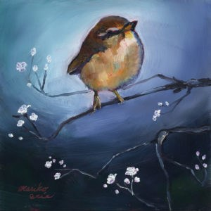 """Bird in Spring"" original fine art by Mariko Irie"