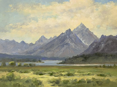 """The Teton From Willow Flats"" original fine art by Bonnie Bowne"