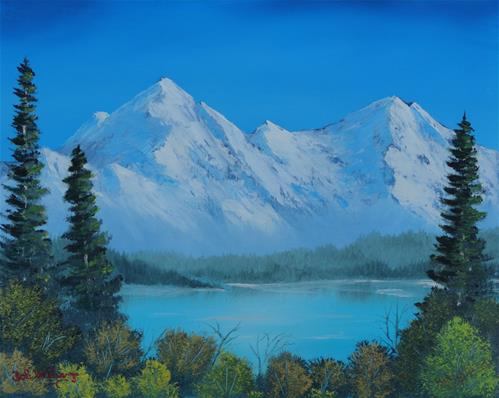 """Mountain Outlook"" original fine art by Bob Williams"
