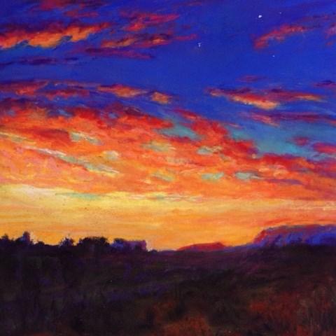 """Arizona Sky"" original fine art by Cindy Gillett"