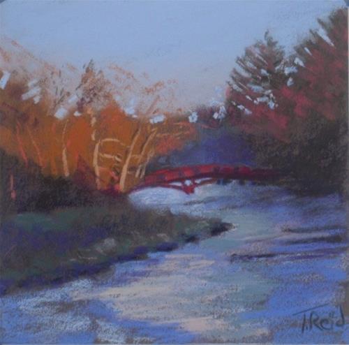 """Red Bridge"" original fine art by Toby Reid"