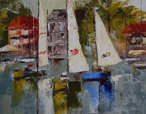 """Balboa Bay"" original fine art by Deborah Harold"