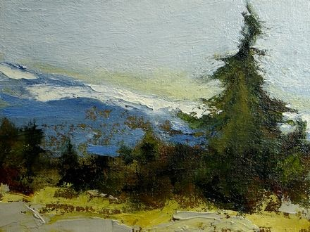 """At the Top"" original fine art by Susan Hammer"