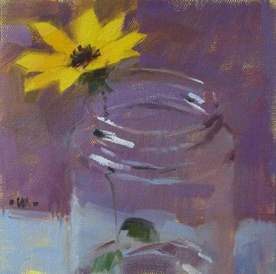 """Mason Jar"" original fine art by Carol Marine"