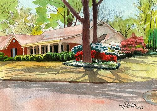 """Springtime On Surrey Lane"" original fine art by Jeff Atnip"
