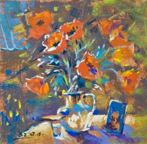 """Hot Summer Day"" original fine art by Sabrina Zhou"