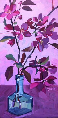"""Backyard Blossoms"" original fine art by Teddi Parker"