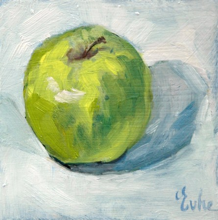 """""""Petite peinture du dimanche"""" original fine art by Evelyne Heimburger Evhe"""