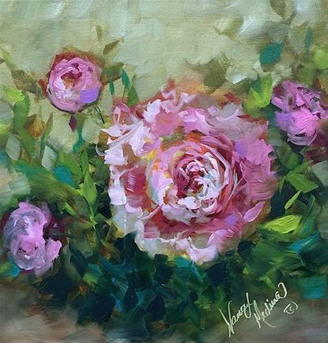 """Oh Solo Peony by Nancy Medina"" original fine art by Nancy Medina"