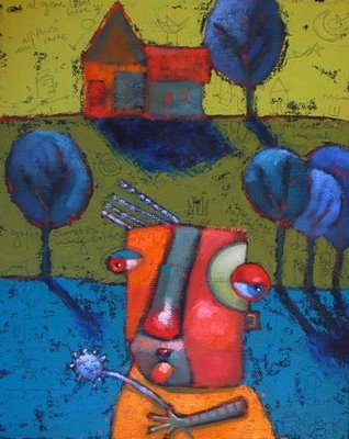 """Traveling Light"" original fine art by Brenda York"