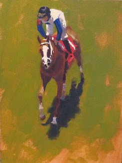 """RACE 2"" original fine art by Helen Cooper"