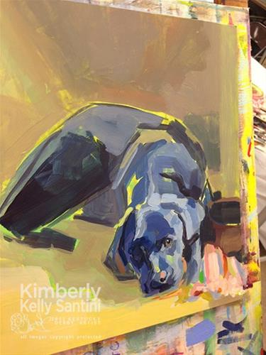 """Rush, Day One Workshop Demo"" original fine art by Kimberly Santini"