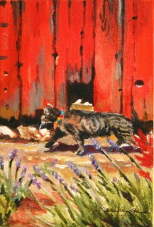 """Moose, the Barn Cat"" original fine art by JoAnne Perez Robinson"
