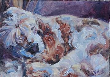 """Sandy"" original fine art by Carol DeMumbrum"