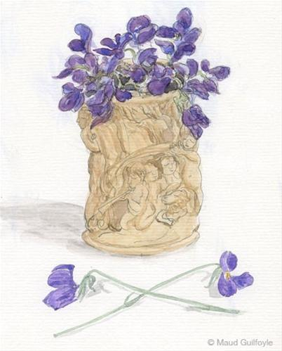 """Sow flower seeds for still life painting and honey bees"" original fine art by Maud Guilfoyle"