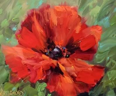"""Off to Italy We Go - Crescendo Poppy  - Nancy Medina Art"" original fine art by Nancy Medina"