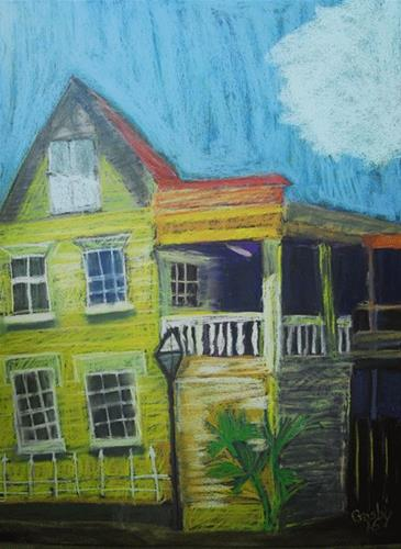 """Haunted History"" original fine art by Donna Crosby"