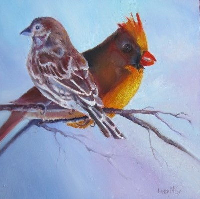 """I've Got Your Back, by Linda McCoy"" original fine art by Linda McCoy"