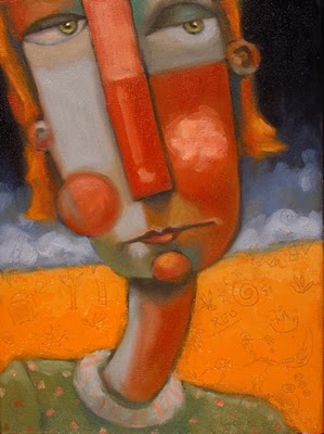 """A Redhead In The Bunch"" original fine art by Brenda York"