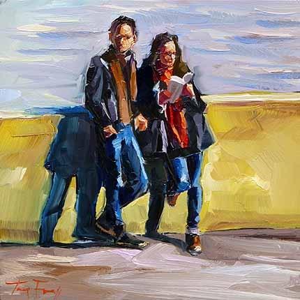 """""""An der Seine Ufer"""" original fine art by Jurij Frey"""