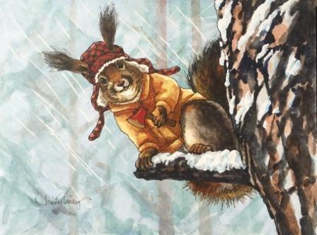 """HATCHET JOB"" original fine art by Kristy Tracy"