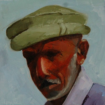 """PAKISTAN MAN"" original fine art by Linda Popple"