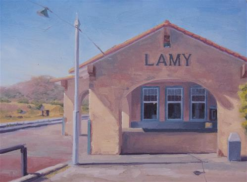 """A Quiet Day in Lamy"" original fine art by John White"