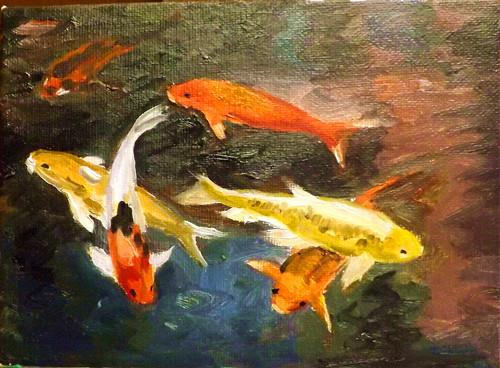 """FISH,A3"" original fine art by Run-      Zhang Zane"