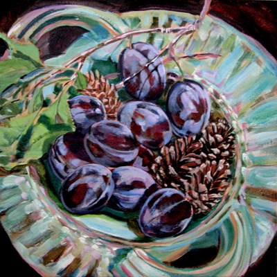 """the Old Plum Tree"" original fine art by Nicoletta Baumeister"