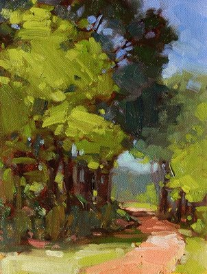 """Shady Path"" original fine art by Laurel Daniel"