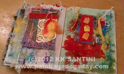 """Prayer Flags"" original fine art by Kimberly Santini"