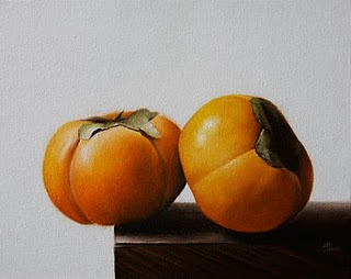"""Fuyu Persimmons"" original fine art by Jonathan Aller"