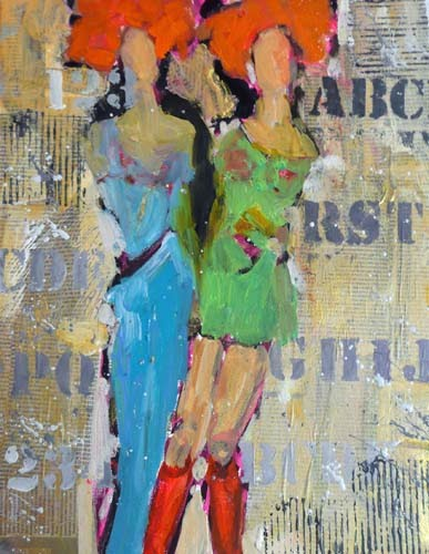 """Connie and Nancy Visit Bobland   SOLD 11034"" original fine art by Nancy Standlee"