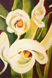 """""""Elegant Callas"""" original fine art by JoAnne Perez Robinson"""