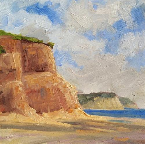 """Drakes Beach"" original fine art by Deborah Newman"