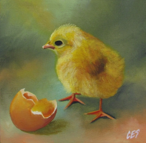 """Which Came First?"" original fine art by ~ces~ Christine E. S. Code"