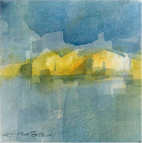 """paisaje 73"" original fine art by Emilio López"