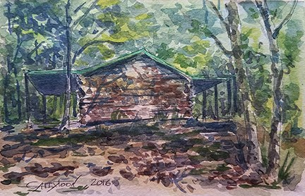 """Alabama Forest"" original fine art by Gabriella DeLamater"