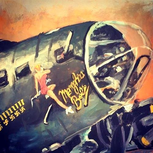 """Memphis Belle"" original fine art by Susan Elizabeth Jones"