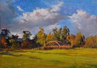 """Vasona Lake County Park"" original fine art by Kelvin Lei"