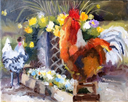 """A Rooster Named Ricky"" original fine art by Marcia Hodges"