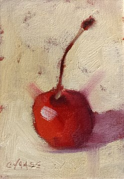 """Candied Cherry"" original fine art by Cindy Haase"