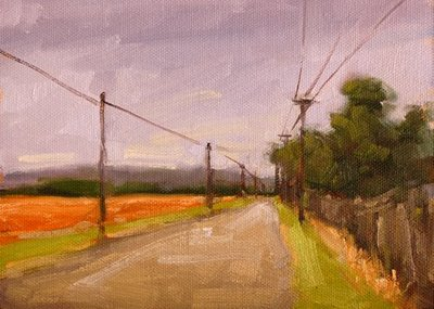 """The Road Goes On Forever"" original fine art by Laurel Daniel"