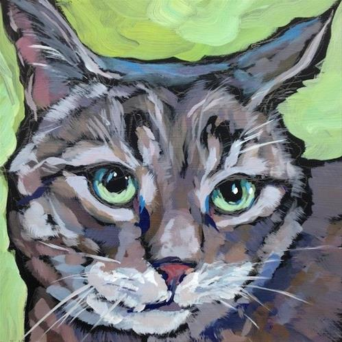"""March 22, Cleo"" original fine art by Kat Corrigan"