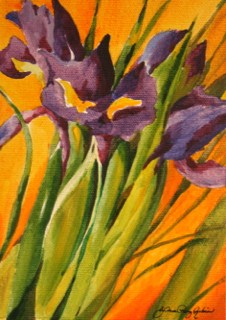 """Dutch Iris"" original fine art by JoAnne Perez Robinson"